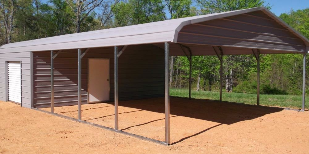 Combo units for Carport shed combo
